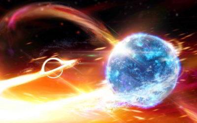 Black hole eats neutron star