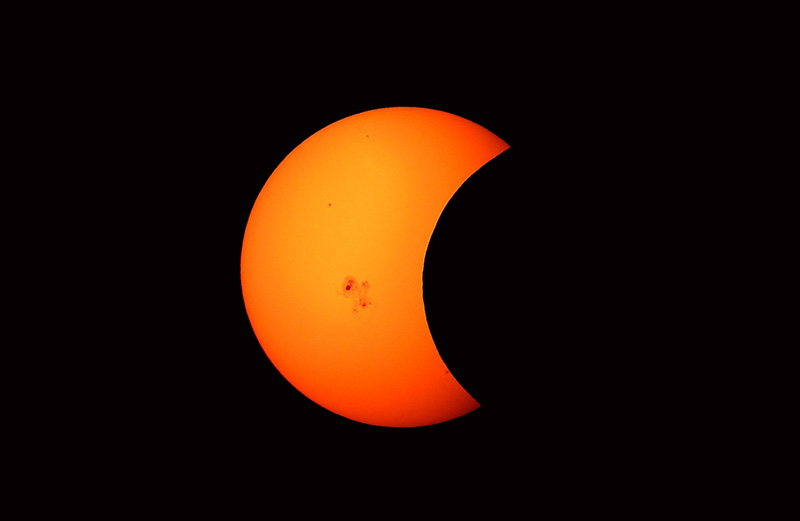 Partial solar eclipse on December 26